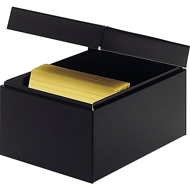 MMF Industries™ STEELMASTER® Card File Box With Block, Black, 900 Capacity, 5