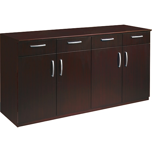 Mayline Corsica Conference Room Buffet Credenza Mahogany H X - Mayline corsica conference table