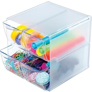 Deflecto® Stackable Cubes Desktop Organizers with 4 Drawers