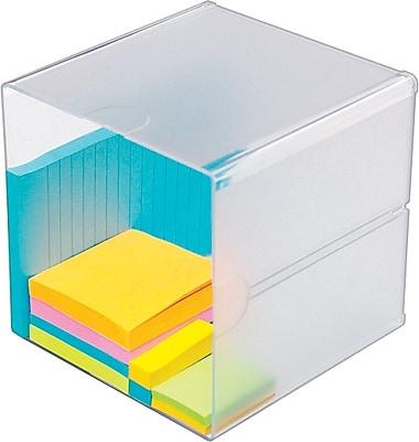 Deflecto Desktop Organizer, 1 Compartment, Clear, 6
