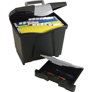 Storex File Box with Organizer Drawer