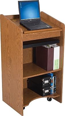 Balt Floor Lectern, Medium Oak (27510)