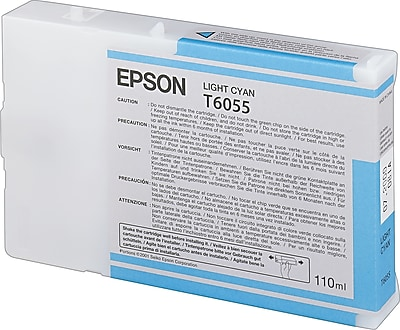 Epson 605 110ml Light Cyan UltraChrome Ink Cartridge (T605500)
