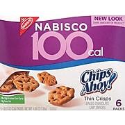 Chips Ahoy® 100-Calorie Pack Thin Crisps, .81 oz. Bags, 6 Bags/BX