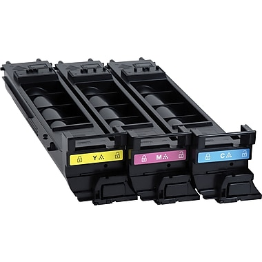 Konica Minolta C/M/Y Color Toner Cartridges (A0DKJ32), High Yield, 3/Pack