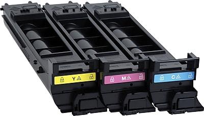 Konica Minolta C/M/Y Color Toner Cartridges (A0DKJ32), High Yield, 3/Pack