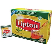 Lipton® Single Serve Tea Bags, Decaffeinated, 72 Tea Bags/Box