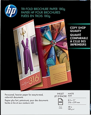 Hewlett-Packard Tri-Fold Professional Brochure & Flyer Papers, 8-1/2