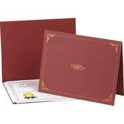 "Oxford Certificate Holder, Burgundy, 8 3/4""H x 11 1/4""W x .250""D, 5/Pk"