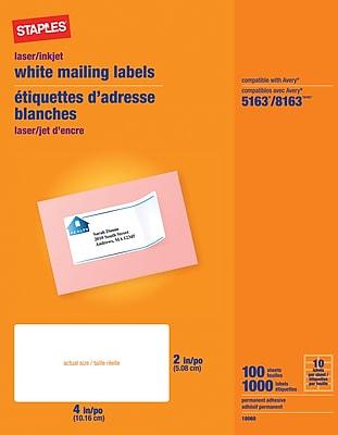 Staples Inkjet/Laser Shipping Labels, 2