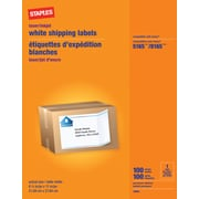 "Staples® White Inkjet/Laser Full Sheet Shipping Labels, 8-1/2"" X 11, 100/Box"