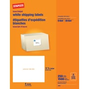 "Staples® White Inkjet/Laser Shipping Labels 3-1/3"" x 4"", 1,500/Box"