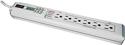 APC SurgeArrest Essential 6 Outlet 1020 Joules Surge Protector With 3 Feet Cord (P6GC)