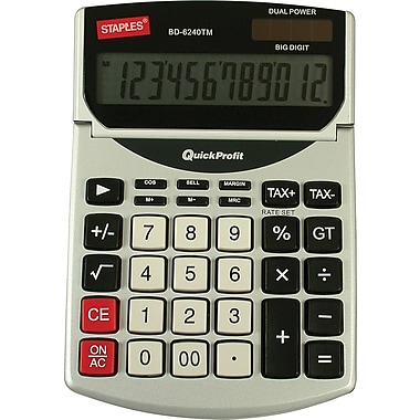 Staples BD-6240TM 12-Digit Profit Tax Calculator