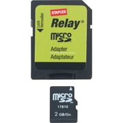 Staples® Relay® 2GB Micro SDHC Card & Adapter