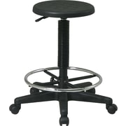 Office Star™ Backless Stool with Footrest, Black