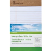 Sustainable Earth by Staples™ Sugarcane-Based Writing Pads, Wide-Ruled, 2/Pack