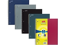 Staples Accel Durable Poly Cover 3 Subject Notebook, Assorted Colors, 8-1/2' x 11', Each (20037M)