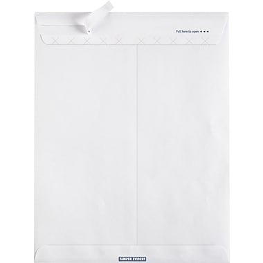 Staples® EasyClose® Tamper-Evident Catalog Envelopes, Security Tinted, White, 100/Box