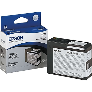 Epson® – Cartouche d'encre T580100 UltraChrome K3, noir photo