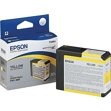 Epson T580 UltraChrome K3 Ink Cartridge, Yellow (T580400)