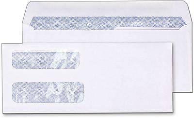 Staples Laser Check Size Double-Window Security-Tint Gummed Envelopes, 1,000/Box (381898/17046)