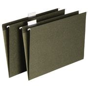 Staples® Hanging File Folders, Letter/Legal, Standard Green, 5 Tab, Tabs & Inserts Included, 50/Box
