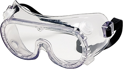 Crews Chemical Safety Glasses, Clear Lens