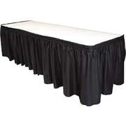 Tablemate TBLLS2914BK Polyester Table Skirt, Black
