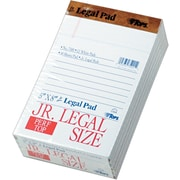 "Tops The Legal Pad™ jr. Legal Rule, White, Perforated, 50 Sheets/Pad, 12 Pads/Pack, 5"" x 8"""