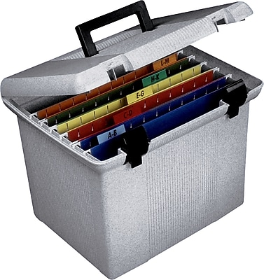 Esselte Portfile Hanging File Box Granite 415364