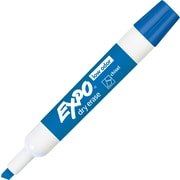 Expo® Low Odor Dry-Erase Markers, Chisel Tip, Blue, 12/pk (80003)