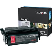 Lexmark Toner Cartridge, 12A5745, Black
