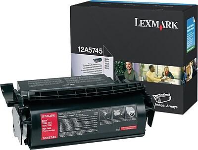 Lexmark Toner Cartridge, 12A5745, Black