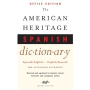"Houghton Mifflin Harcourt American Heritage® Spanish Dictionary, 2nd Ed, Office Ed, Paperback, 640 Pages, 4 1/5""W x 6 7/8""L"
