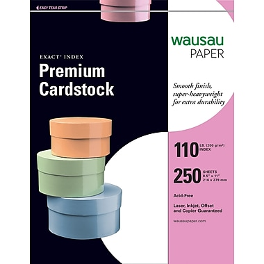 Wausau Papers® EXACT® 40508/48508 Index Paper, 8 1/2