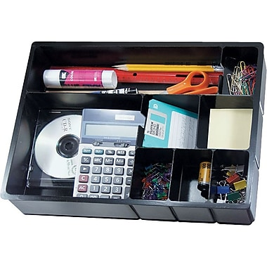 Deep Multipocket Desk Drawer Organizer Compartments Staples
