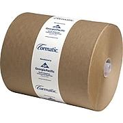 Georgia-Pacific Cormatic Hardwound Paper Towel, 1 Ply, Brown, 700'/Roll, 6 Rolls/Carton (2910P)