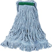 "Rubbermaid® FGD21206 Super Stitch Blend Mop, Medium, 1"" Headband, Blue"