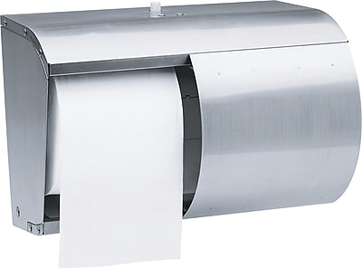 Kimberly-Clark Professional* Stainless Steel Coreless Double Roll Bath Tissue Dispenser (09606)