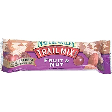 Nature Valley® Chewy Trail Mix Granola Bars, Fruit & Nut, 1.2 oz. Bars, 16 Bars/Box