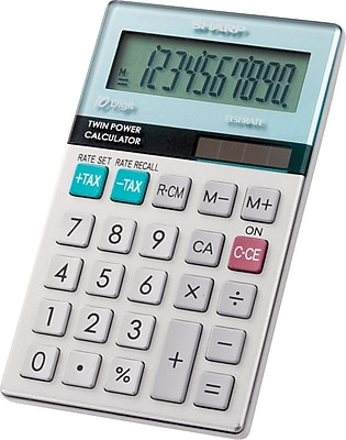 Sharp EL-377TB Handheld Calculator 496681