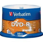 Verbatim® DVD-R 16x 4.7GB, 50-Pack Spindle
