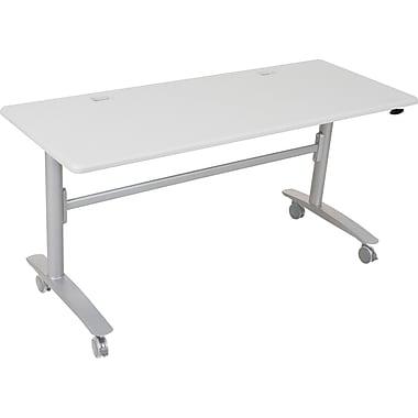 Balt Lumina 60'' Rectangular Flip Top Training Table, Silver (89985)