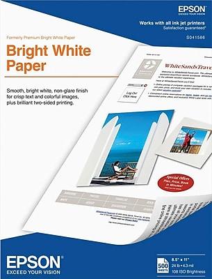 Epson Bright White Paper 8.5 x 11 500 Sheets per pack (S041586)