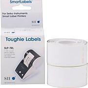 "Seiko SmartLabel 1.12"" Toughie Address Label, White, 2 Rolls/Box"