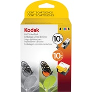 Kodak® 10B and 10C Ink Cartridges Multi-pack (2 cart per pack), Black and Color