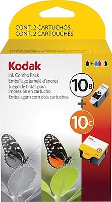 Kodak® 10B and 10C Ink Cartridges Multi-pack (2 cart per pack), Black and Color