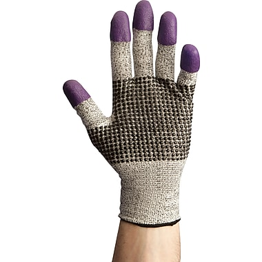 Jackson Safety® G60 Purple Nitrile Cut Resistant Gloves; Size 10 (XL), Ambidextrous, Grey/Black, 1 Pair