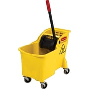 Rubbermaid Plastic Mop Wringer Bucket, Yellow, 31 Qt.